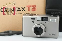 Excellent Contax T3 Double Teeth 35mm Point And Shoot Film Camera W/ Box
