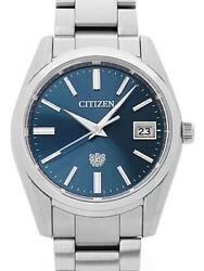 Used Citizen Aq4080-52la060 The Citizen Eco-drive Blue Menand039s Watch From Japan