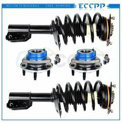 2 Front Complete Struts +2 Wheel Hub Bearing For Impala 00-01 Intrigue 98-02