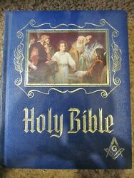 1971 Masonic Holy Bible Master Reference Red Letter Edition Heirloom Make Offer