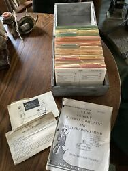 Rare Us Army Navy Air Force Military 1969 Recipe Service And Index Cards Wood Box