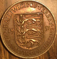 1957 Jersey One Twelfth Of A Shilling Coin
