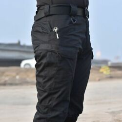 Slim Army Cargo Pants Camping Hike Outdoor Backpacker Field Combat Airsoft Jeans