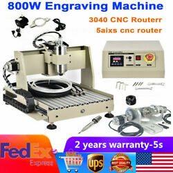 Usb 5 Axis 3040 Cnc Router Engraver Woodworking Drilling Milling Machine 800w