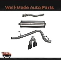 Corsa Ss Cat-back Exhaust System Dual Side For Chevy/gmc/cadillac 304 14749blk