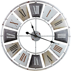 """Wall Clock Large Decorative 24"""" Centurion Roman Numeral Hands Vintage Style New"""