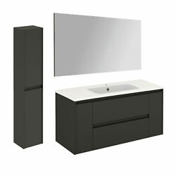 Ws Bath Collections Ambra 120 Pack 2 Ambra 48 Wall Mounted - Gloss Anthracite