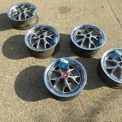 1965 66 Set Of 5 Mustang Original Ford Styled Steel Wheels 14 X 5 Nos Caps 1