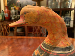 A Rare And Important Chinese Western Han Earthenware Duck Hu Jar