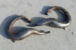 Yamaha Banshee Fmf Gold Exhaust Pipes Headpipes Only Left + Right 1987-2006 N