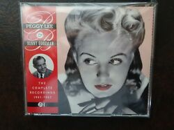 Peggy Lee And Benny Goodman 2 Cd Set Complete Recordings 1941-47 All Like New S