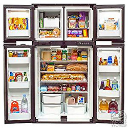 Norcold 1210im 2-way Refrigerator W/ice Maker 4-door Side By Side 12 Cubic Ft