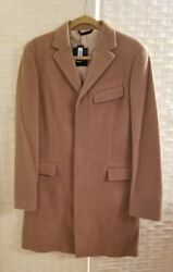 Banana Republic Menand039s 100 Cashmere Monogram Collection Overcoat Nwt 700 M