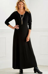 CLASSIC MAXI BLACK DRESS MED UP TO 2X PERFECT FOR DAYS EVENINGS HOLIDAYS $16.99