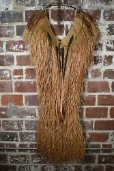 Antique Mino Rain Cape Woventwined And Plaited