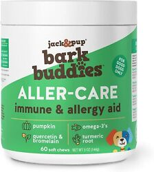 Jackandpup Aller-care Immune And Allergy Aid For Dogs Bark Buddies Soft Chews