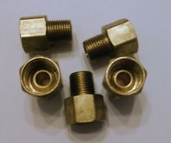 5 Pack 5/16 Tube Inverted Flare To 1/8 Male Npt Straight Fitting