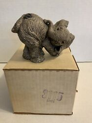 The Herd Sniff 3115 Retired Martha Carey Elephant The Herd Collection