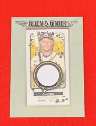 2021 Topps Allen Ginter Baseball Game Used Memorabilia Ozzie Albies Relic Card