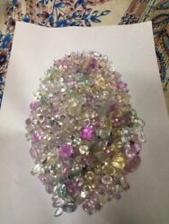 Outstanding 3000 Cts Natural Pink And Yellow Green Mix Kunzite Gemstones Lot