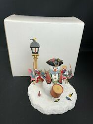 Lenox Lynn Bywaters Drum And Birdie Corps Patriotic Snowman Figure With Box