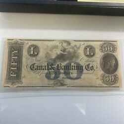 Canal And Banking Co. 50 New Orleans Louisiana Unissued Remainder Obsolete Note