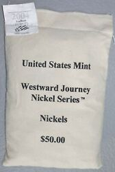 2004, 2005 And 2006 50 Westward Journey Nickel Series Bags - Qty 5, 250 Value