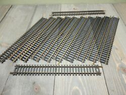 Atlas 9 Straight Track Code 100 1/87 Ho Scale 21 Brass Lot Of 12 Used