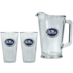 Ole Miss Rebels Pitcher And 2 Pint Glass Set Beer Set