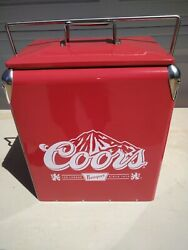 Coors Banquet Beer Retro Cooler Built In Opener Ice Chest New Never Used