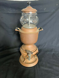 1904 Antique Manning And Bowman Co Copper/ Glass Coffee Maker Peculator Urn Warmer