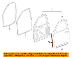 Gm Oem Front Door-front Weatherstrip Weather Strip Seal Right 22888057