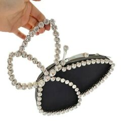 Diamond Luxury Designer Butterfly Personality Clutches Evening Bags Handbags $47.20