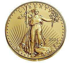 In Hand - American Eagle 2021 One Ounce Gold Uncirculated Coin 21ehn