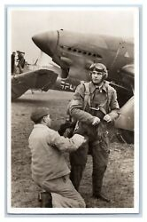 Germany Real Photo From Hospitalized Luftwaffe Pilot 1940 To Wolf Family
