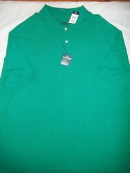 Harbor Bay Polo Shirt Adult 3xlt Mens Short Sleeve Green Big And Tall New Cotton
