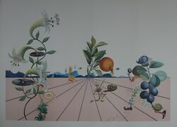 Salvador Dalandiacute Flordali I - Lithography Signed And No Field 233 Arches 1981