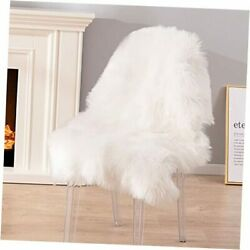 Faux Sheepskin Fur Rug Luxury Soft Chair Cover Couch Seat 2 X 3 Ft Ivory
