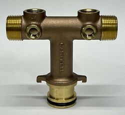 Campbell Wellmate Brass Quick Connect Tee Wmtc4-3lf. Free Shipping