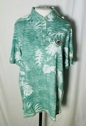 Tommy Bahama Nfl Parque Polo- Green Bay Packers Size Medium