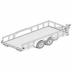 1214 - 6and039 X 14and039 Tandem Axle 7k Utility Lowboy Trailer Diy Master Plan -17 How-to