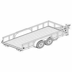 1216 - 6and0396 X 16and039 Tandem Axle 7k Utility Lowboy Trailer Diy Master Plan -17 How-