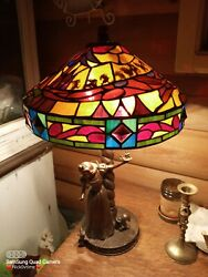 Snow White Stained Glass Lamp