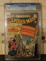 Cgc 7.0 Amazing Spider-man 18 Ned Leeds 1st Appearance Ow/w Pages Spiderman