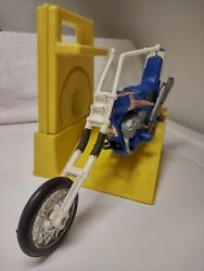 Ideal Toys Evil Knievel Stunt Motorcycle Energizer Gyro Launcher 1973