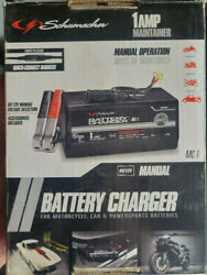 Schumacher Mc-1 Battery Charger 1 Amp Motorcycle/ Lawn Tractor Trickle Charge