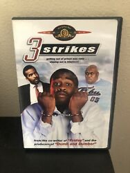 3 Strikes Dvd Rare Oop Complete With Insert Brian Hooks David Alan Grier 2000