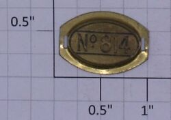 Lionel 814-np No.814 Oval Brass Numberplate