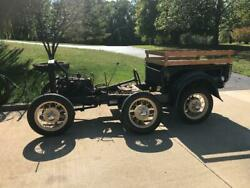1930 Ford Model A Ford Truck Frame With Bed Wheels And Tires