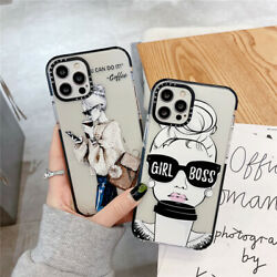 Cartoons Cute Coffee Sunglasses Girl Phone Case For Iphone 11 12 13 Pro Max Xr